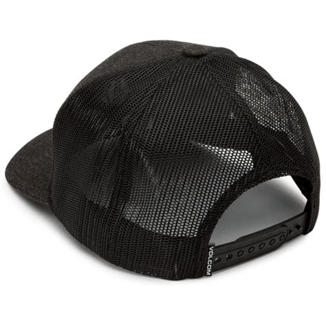Casquette trucker noire Full Stone Cheese Charcoal Heather