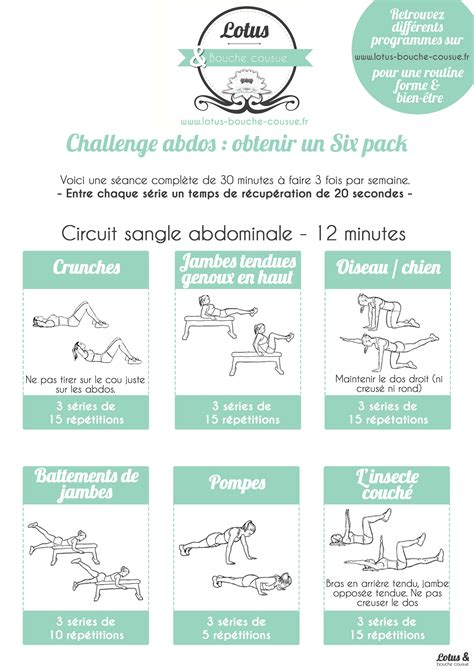 Challenge ventre plat « Six Pack | Moi | Exercice gainage
