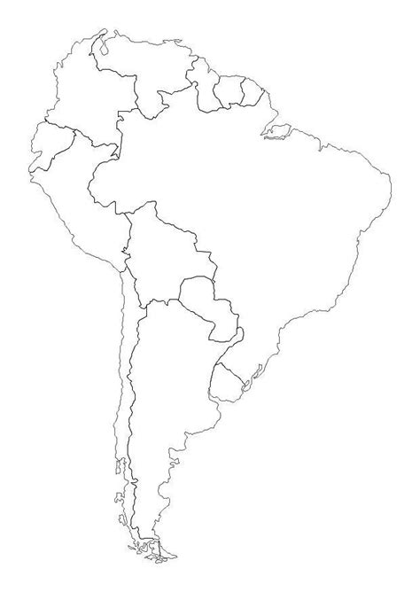 Coloring Page South America - free printable coloring pages