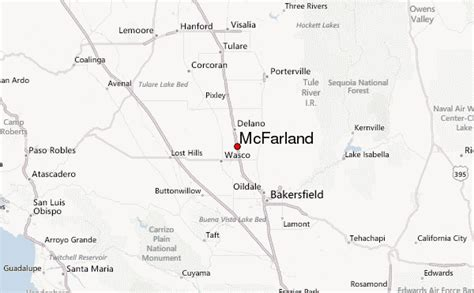 Mcfarland California Map