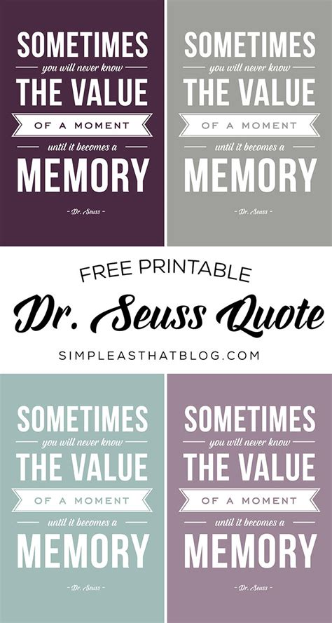 The Value of a Moment - Printable Dr