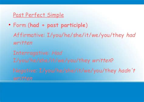 Past perfect Simple-Continuous