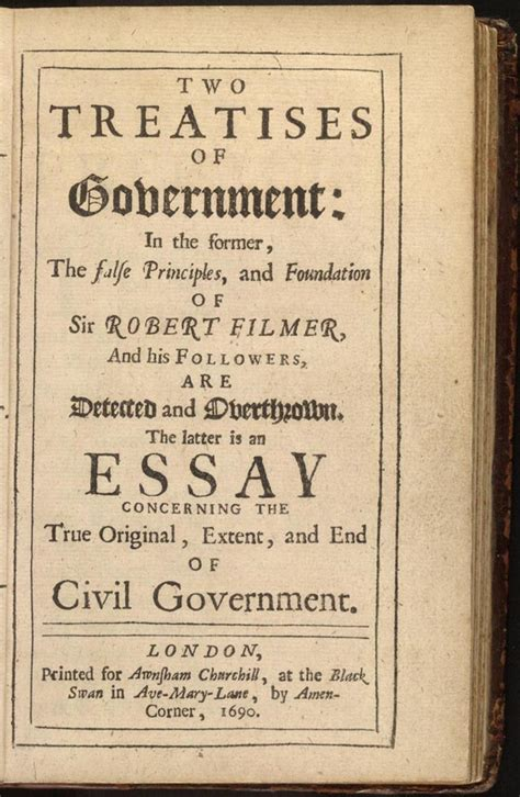 Two Treatises of Government - Wikipedia