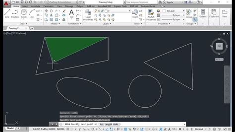 How to calculate area of irregular shape in autocad - YouTube