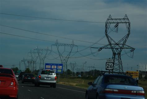US-26 power lines 500kV | Power transmission lines along