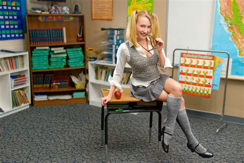 Sexy Schoolgirl | Rachael Drummond stays after class