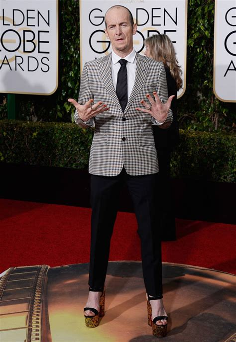 American Horror Story's Denis O'Hare wears heels to Golden