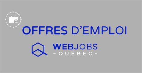 teletravail offre d'emploi quebec