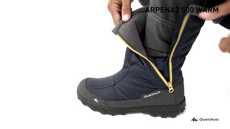 Quechua - Arpenaz 500 Warm Waterproof Boots Men - YouTube