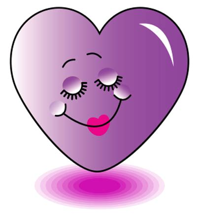 Pretty Purple Heart | Heart emoticon, Emoticon and Icons