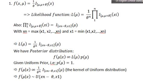 self study - Find posterior distribution for uniform