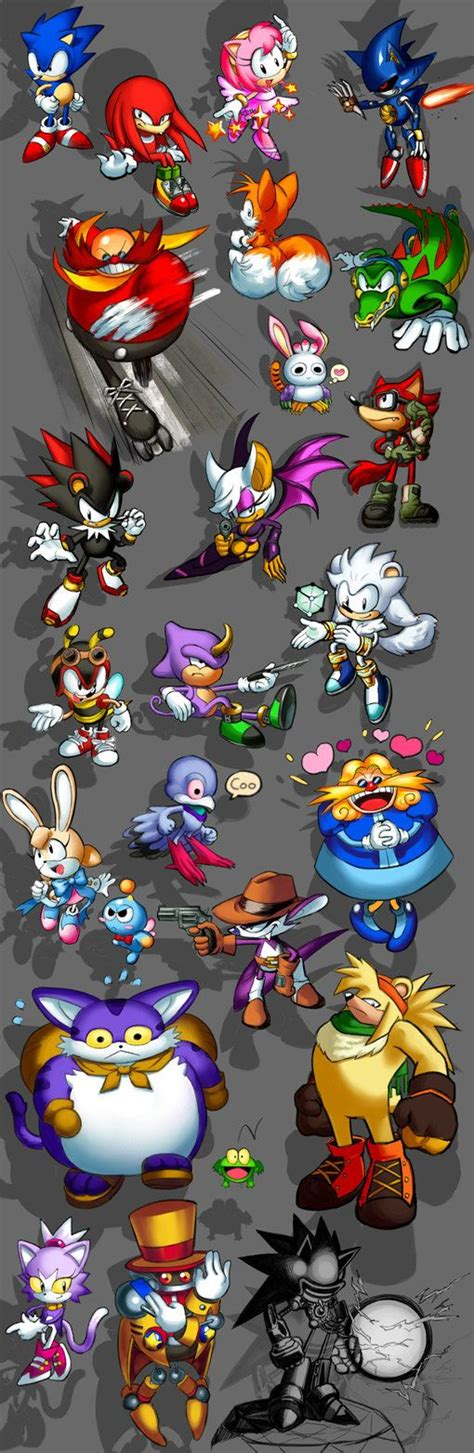 Classic styled Sanic characters by karpkang | Classic